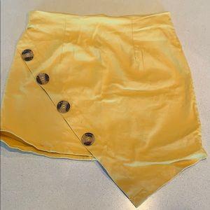 Zaful Mustard yellow skirt size small( I say Xs)